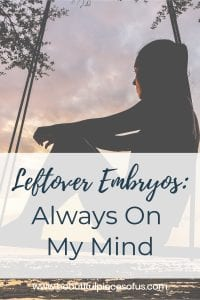 Always On My Mind | Living Life with Leftover Embryos